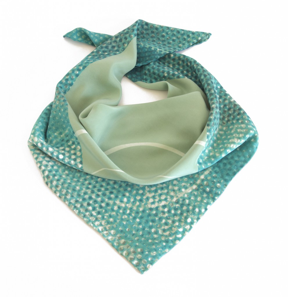 Emma Noble green dot scarf square