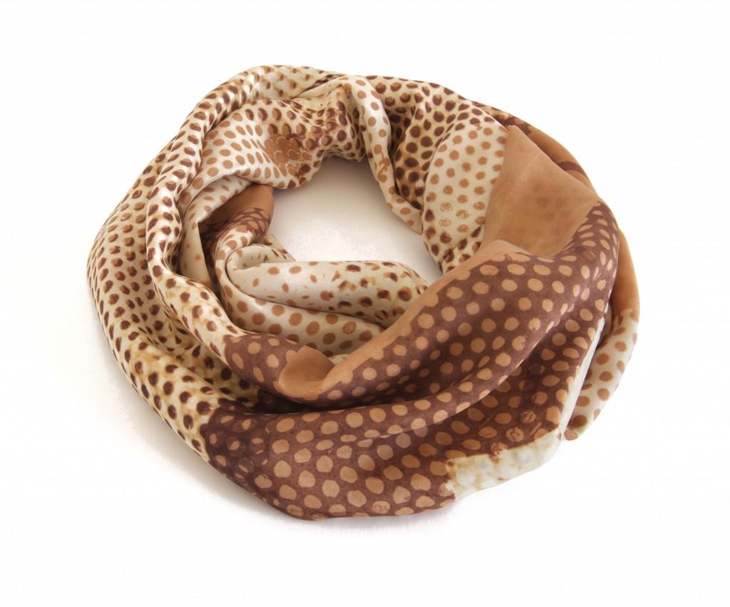 Emma Noble copper dot loop scarf