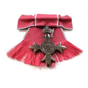 MBE medal for custom framing