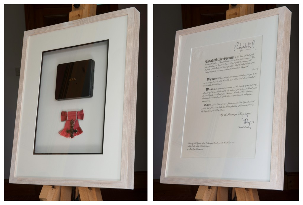 custom picture framing for MBE