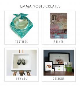 Emma Noble Creates, prints, frames, designs