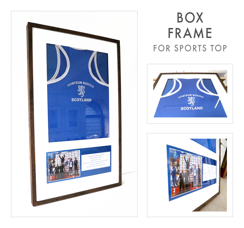 Bespoke frame for a boxing champ
