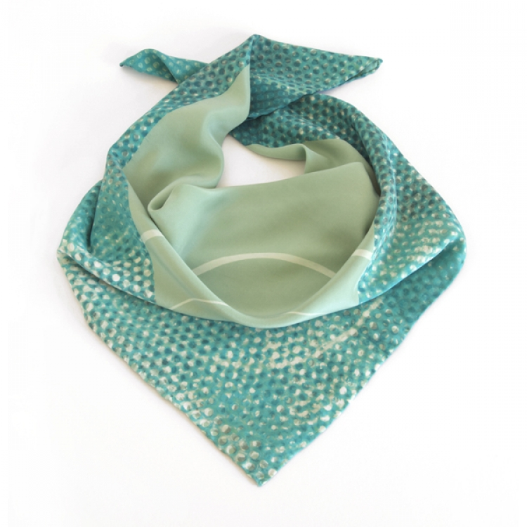 03 Emma Noble green dot square scarf