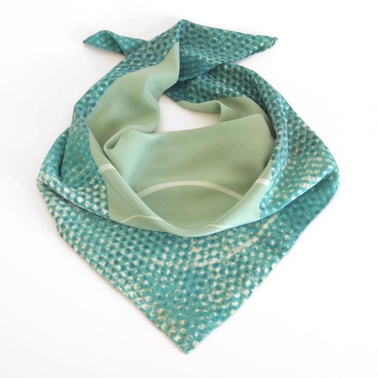 EmmaNoble_GreenDotSquareScarf