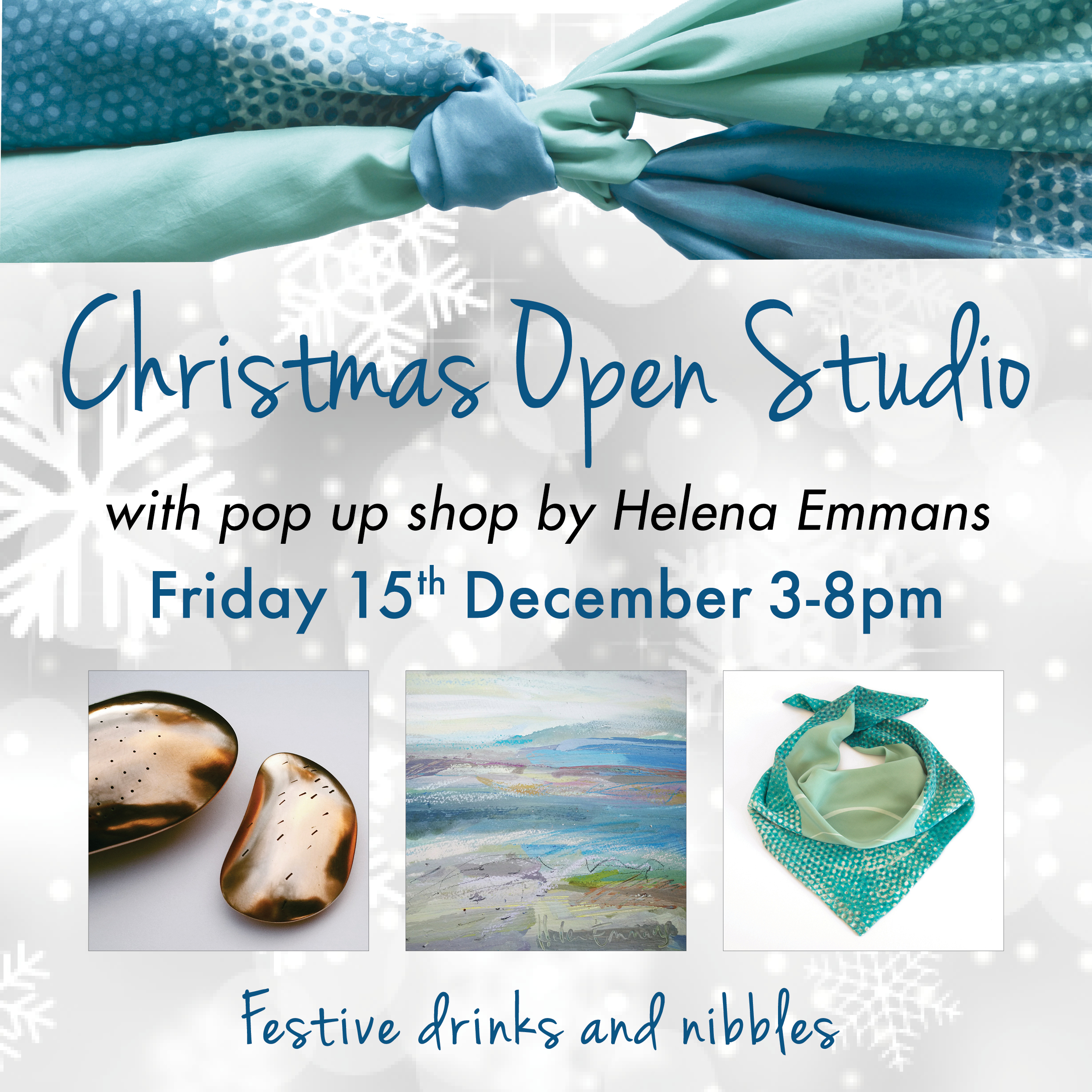Christmas Open Studio – all welcome – Friday 15th December