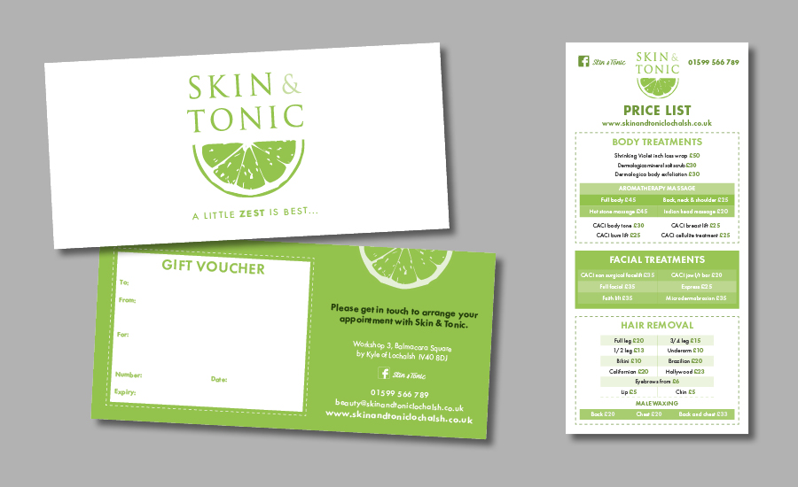 Skin tonic emma noble creates branding design for print and online reheart Choice Image